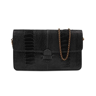 Accordion Crossbody Wallet Black