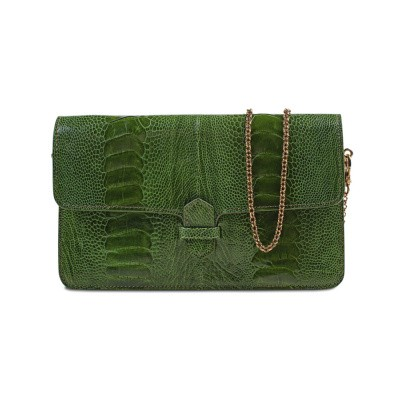 Accordion Crossbody Wallet Green